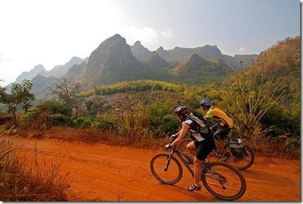 Mountain biking the hillso f chaing dao