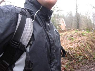 DHB Amberley cycling jacket in the rain