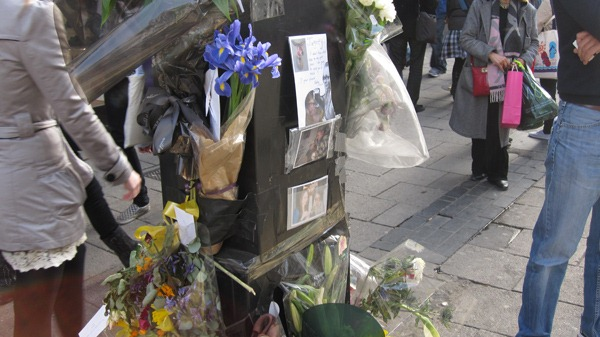 Tribute to cyclist killed on Oxford Street