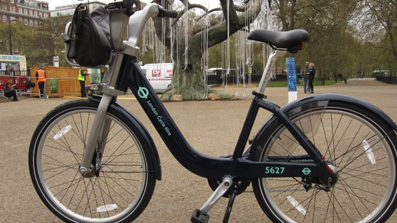 TfL-cycle-hire-bike-on-speakers-corner