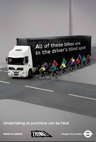 TfL HGV blind post poster campaign