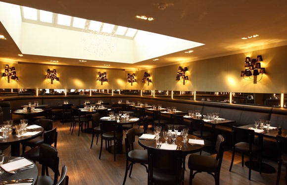 Inside the Cafe Luc restaurant