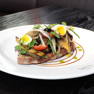 Mouth watering food from the bicycle valeting restaurant