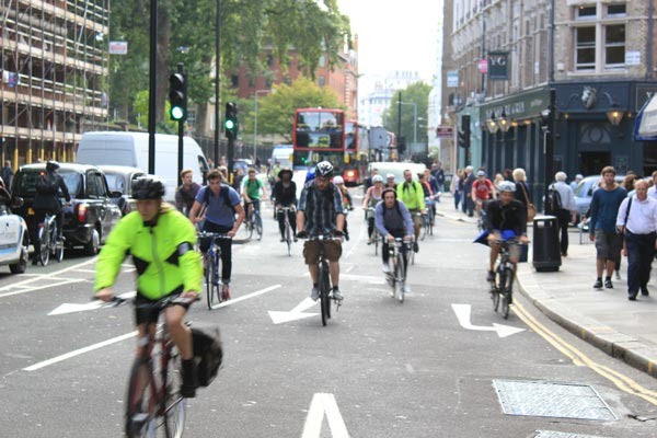 London's cyclists beating the tube strike