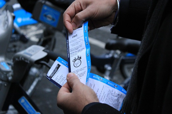 Barclays cycle hire the receipt