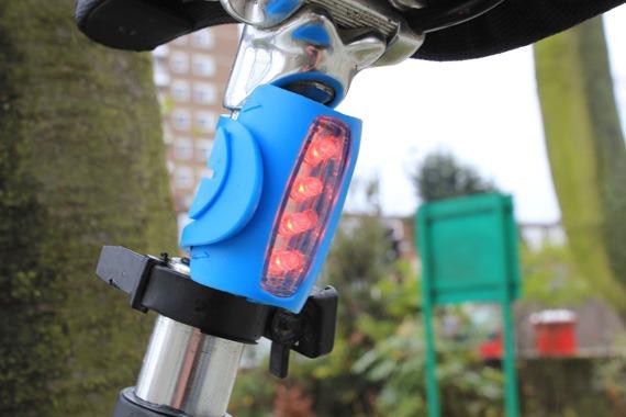 Knog rear light turned on