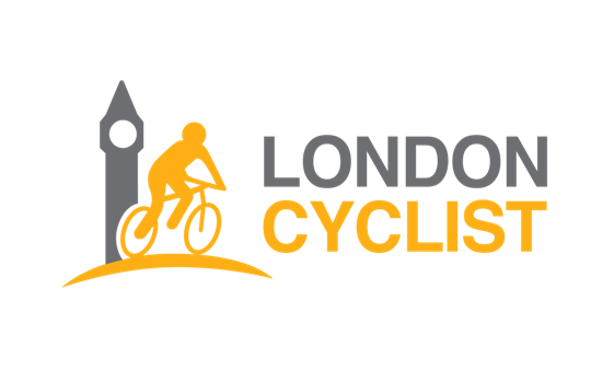 London Cyclist in orange
