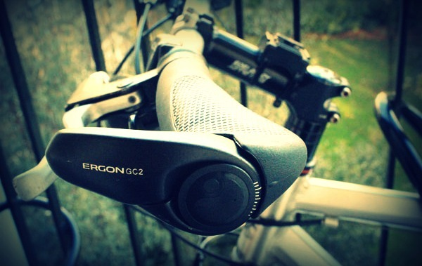 The GC2 Ergon Grips from a side view