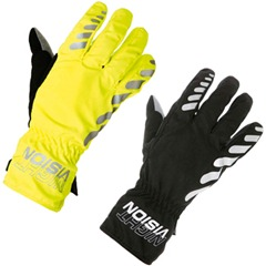 Altura night vision waterproof gloves showing the fluorescent and the black design