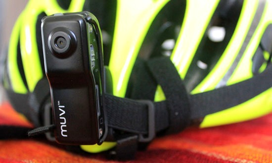 Veho muvi helmet camera attached to Proviz helmet