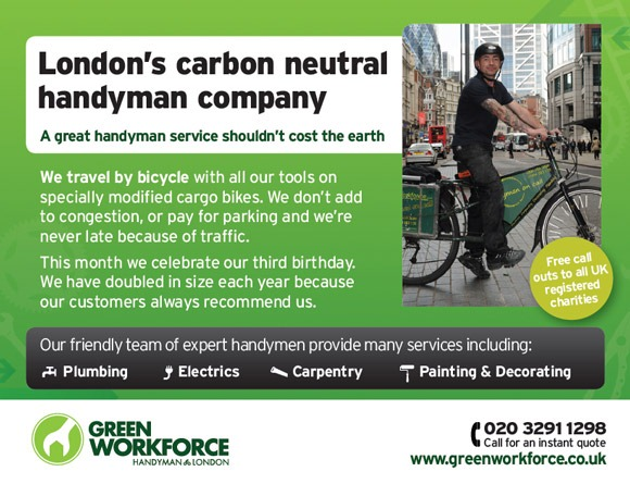 Green work force London handyman flyer