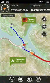 Outdoor Navigation Windows Mobile Bike App