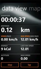 Sports Tracker Windows Mobile App