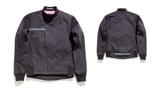 Rapha Bomber Jacket product shot with front and back view