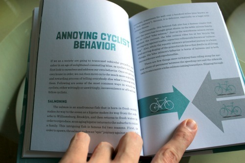 Bike Snob NYC's new book on a page about annoying cyclist behaviour