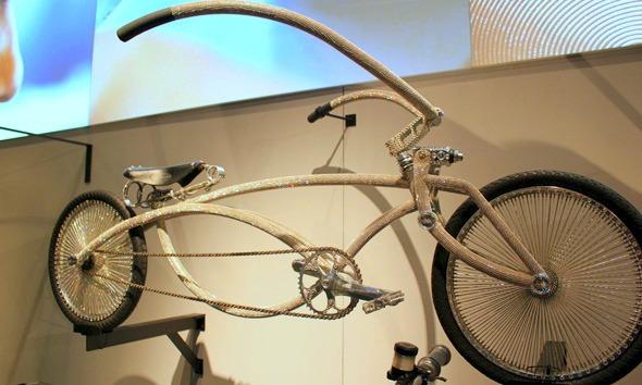 Swarovski crystal low rider bicycle
