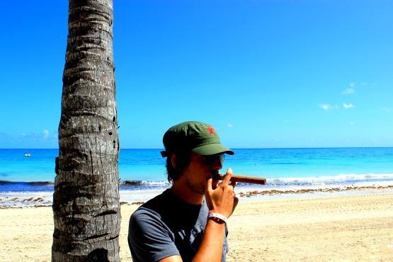 Cuban cigar in Cuba