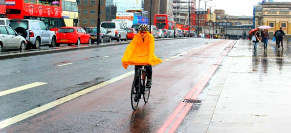 Keeping dry on two wheels