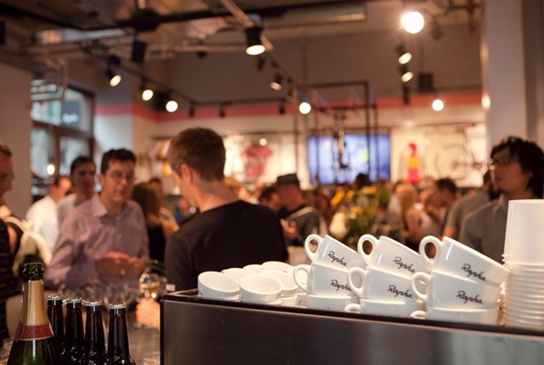 Rapha cycle cafe coffee mugs