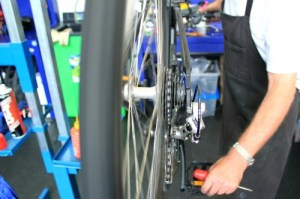 Adjusting gears is easy with instructions
