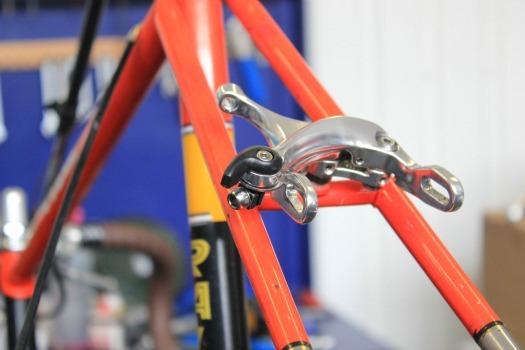 bike frame and brake callipers