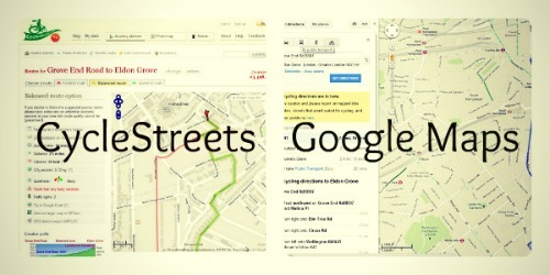 Google Maps Vs CycleStreets Battle For The Best Route Planner - Route planner walking google maps