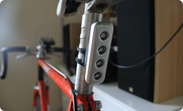 Knog Blinder 4V shown on rear of bike