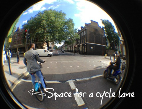 Space for a cycle lane
