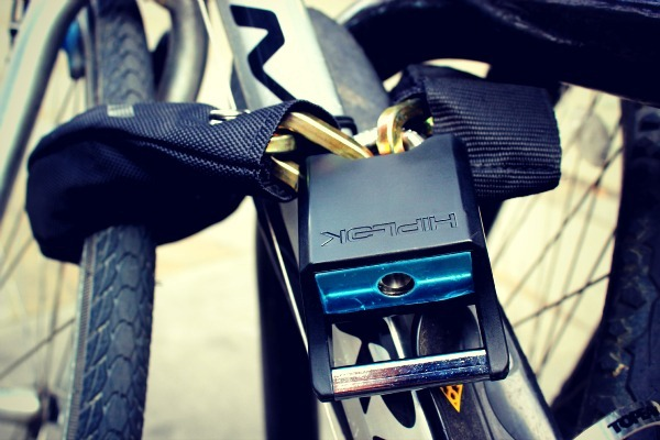 Bike locked with a hiplock