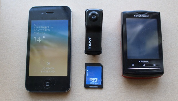 Veho muvi compared to the iPhone and other devices