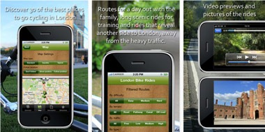 London Cycle Routes iPhone app