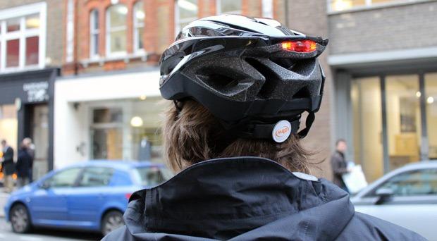 Rear view of helmet