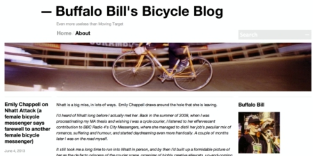 Buffalo Bill Bicycle Blog Screenshot