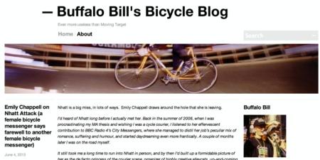 Buffalo Bill Bicycle Blog Screenshot