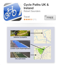 Cycle paths app for iPad