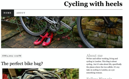 Cycling with heels London Cycling Blog screenshot