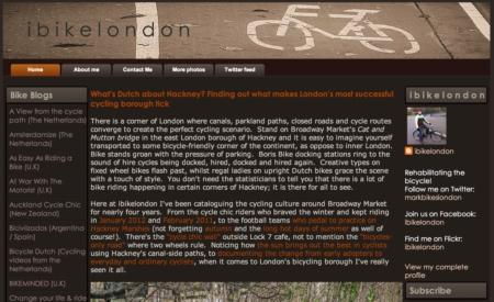 I Bike London Blog Screenshot