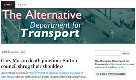 The Alternative DFT website screenshot
