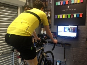 Cycling and watching