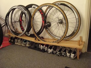 Home made wheel storage