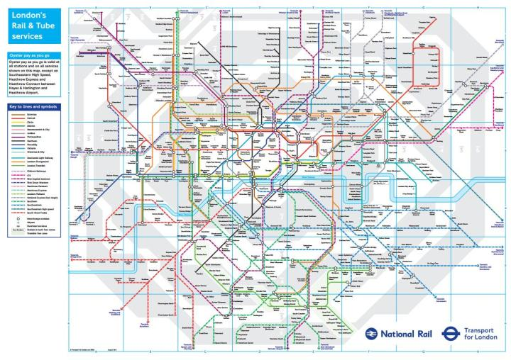 TfL only controls a fraction of rail services, especially in South London - Image from TfL