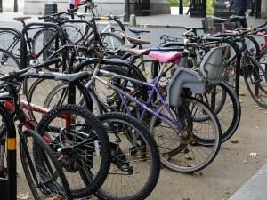 A full bike rack