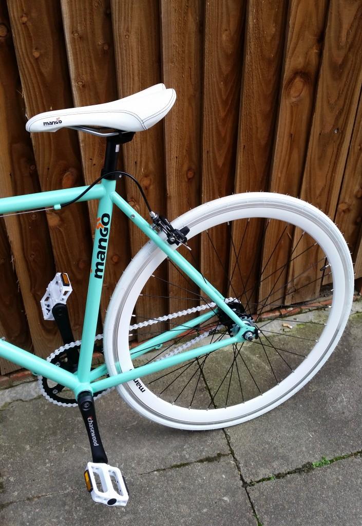 Rear end of bike