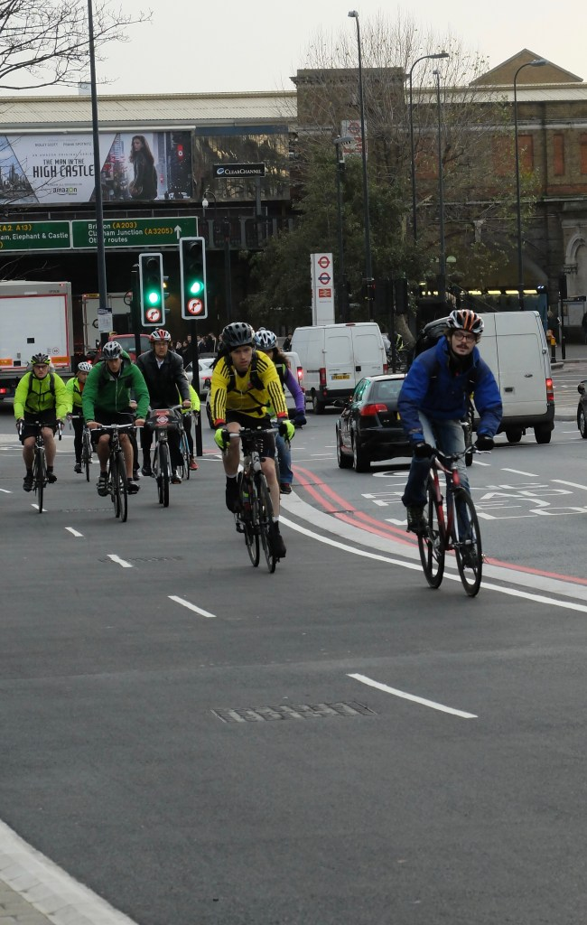 Cyclists on CS5