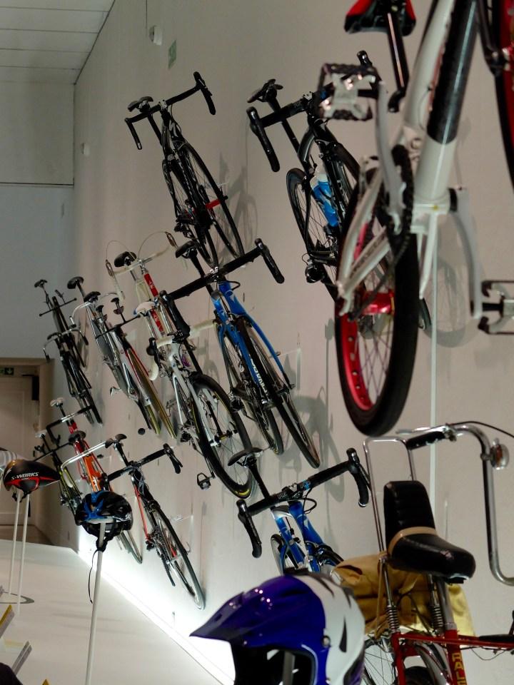 High performance bikes on display