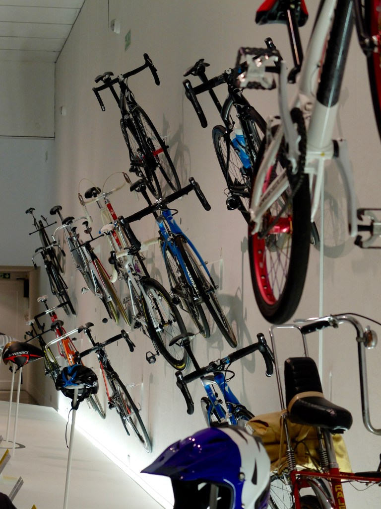 High performance bikes on display