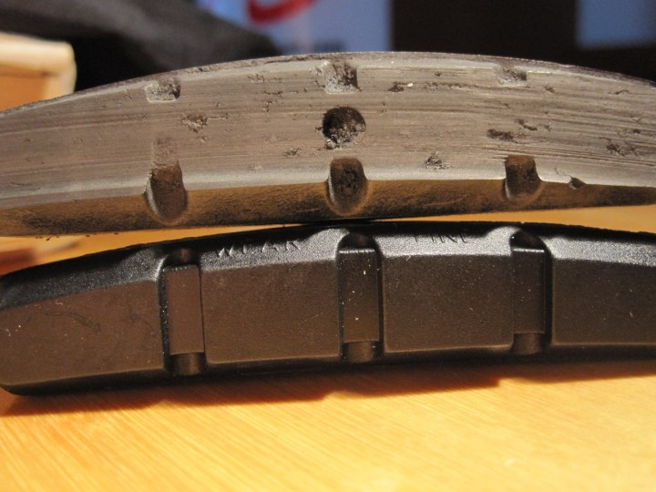 Worn out brake pads