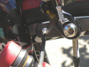 Removing the retaining screw