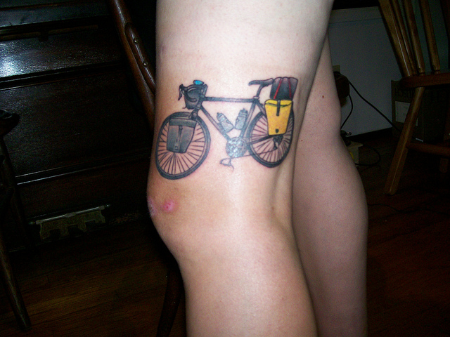 Touring bike tattoo