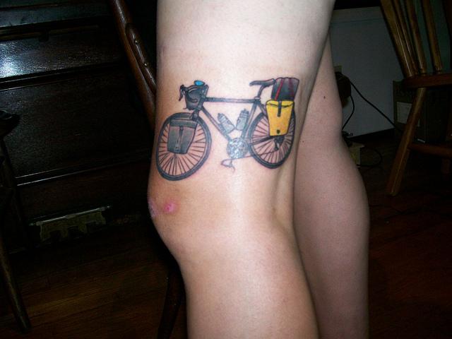 Touring bike tattoo